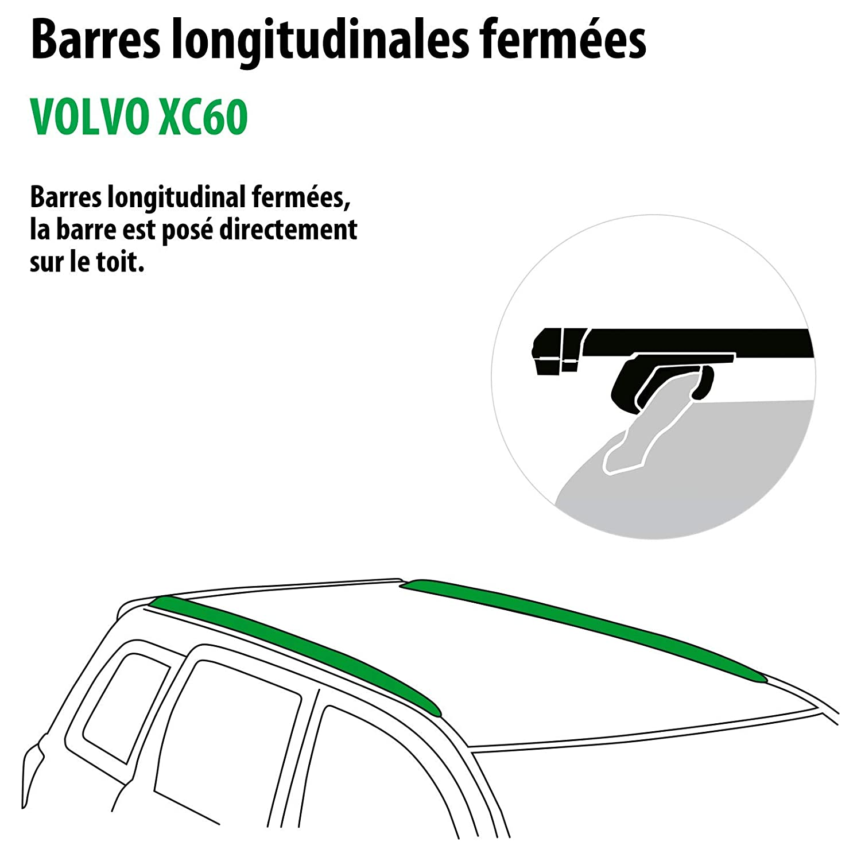 111287-07583-29-FR Rameder Pack Barres de Toit Pick-Up pour Volvo XC60