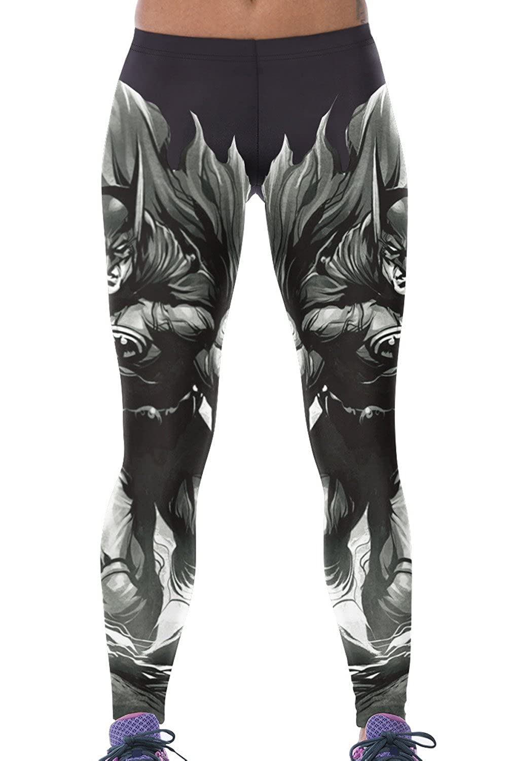 Lady Queen Women's Batman Printed Tight Stretch Sport Legging Pants