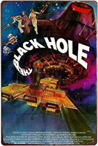 The Black Hole Movie Tin Wall Sign Metal Plaque Poster Sign Iron Painting Art Decor for Bar Cafe Office Hotel Outdoor 12X8 Inches