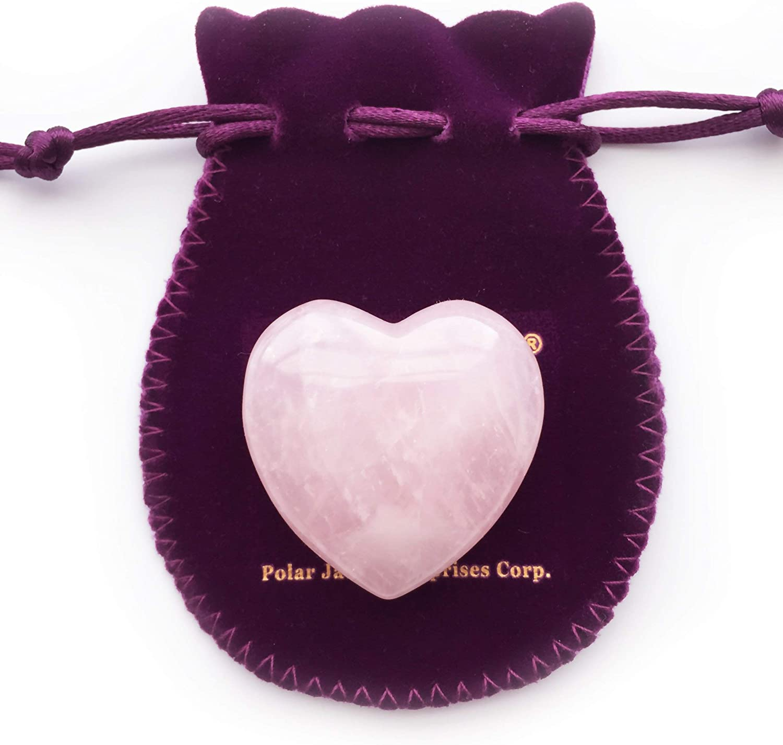 1.75 Inch Black Jade Heart Crystal Healing Puffy Heart Pocket Stone Gift