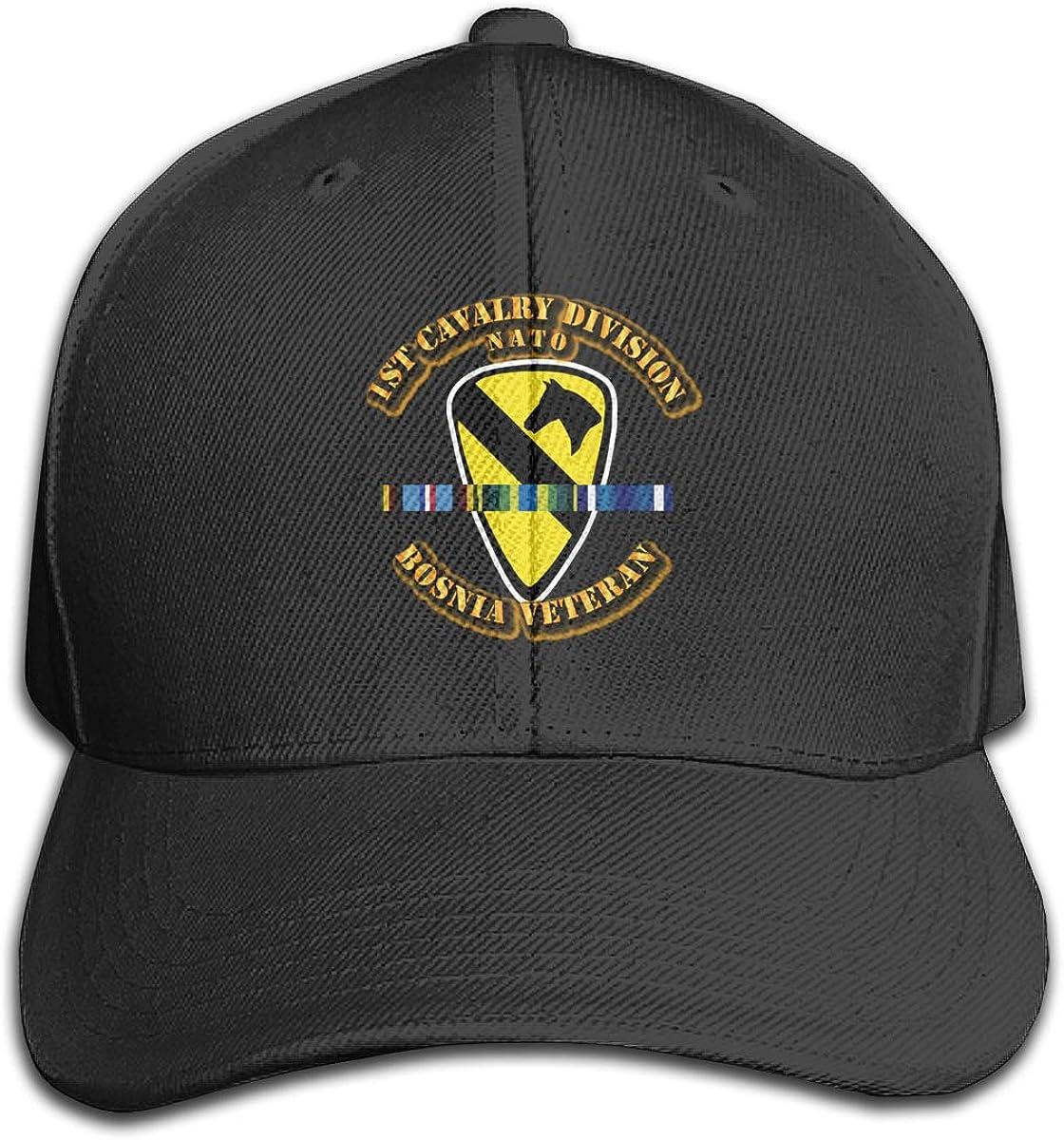Zdsg 1st Cavalry Division W Bosnia SVC Ribbons Dad Hat Unisex Cotton Hat Adjustable Baseball Cap