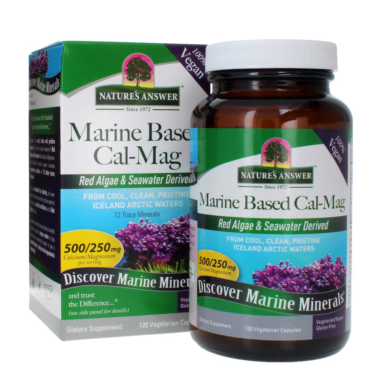 Nature's Answer Marine Based Cal - Mag 500 mg