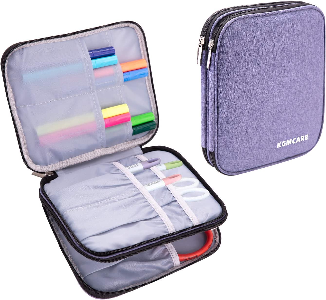 Bag Only Double-Layer Organizer for Cricut Accessories Pink Luxja Carrying Bag for Cricut Pen Set and Basic Tool Set