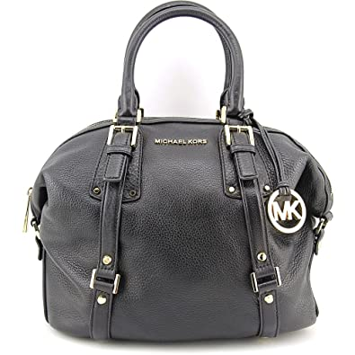 228e3058e277 Amazon.com  MICHAEL Michael Kors Bedford Belted Medium Leather Satchel in  Black  Shoes