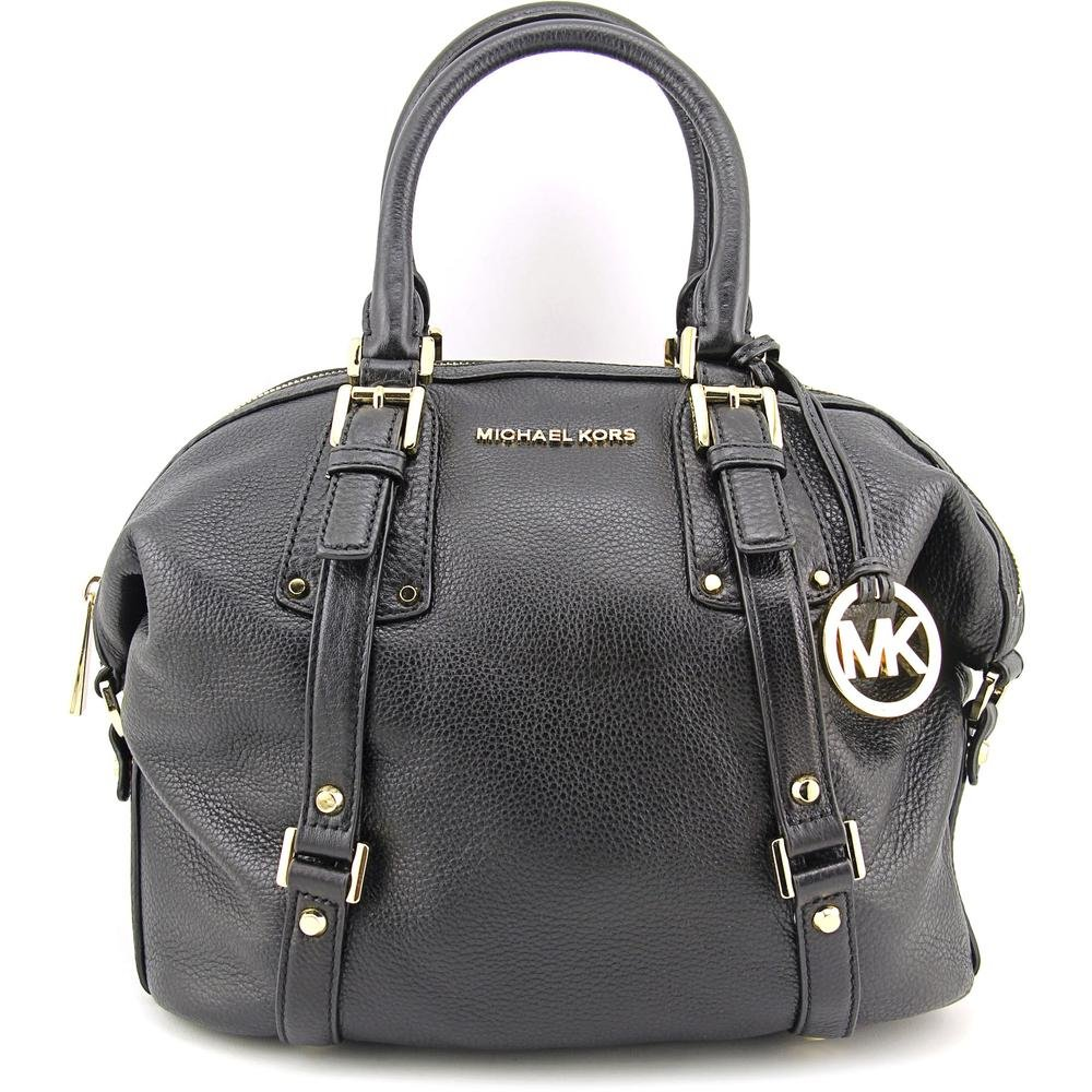 MICHAEL Michael Kors Bedford Belted Medium Leather Satchel in Black by MICHAEL Michael Kors