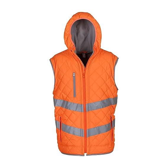 7d50d6ba155 Yoko Unisex Adults Hi Vis Kensington Hooded Gilet: Amazon.co.uk: Clothing
