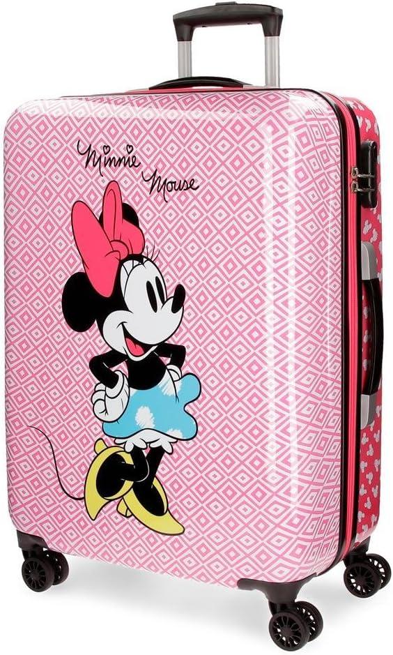 Disney 4411861 Rombos Equipaje Infantil, 69 cm, 70 litros, Rosa