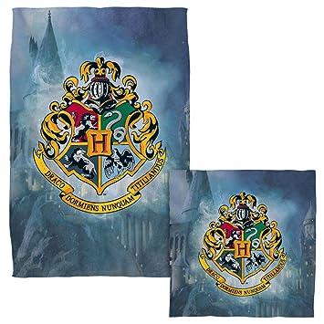 Hogwarts Crest – -Harry Potter – -Cara y juego de toallas de mano (