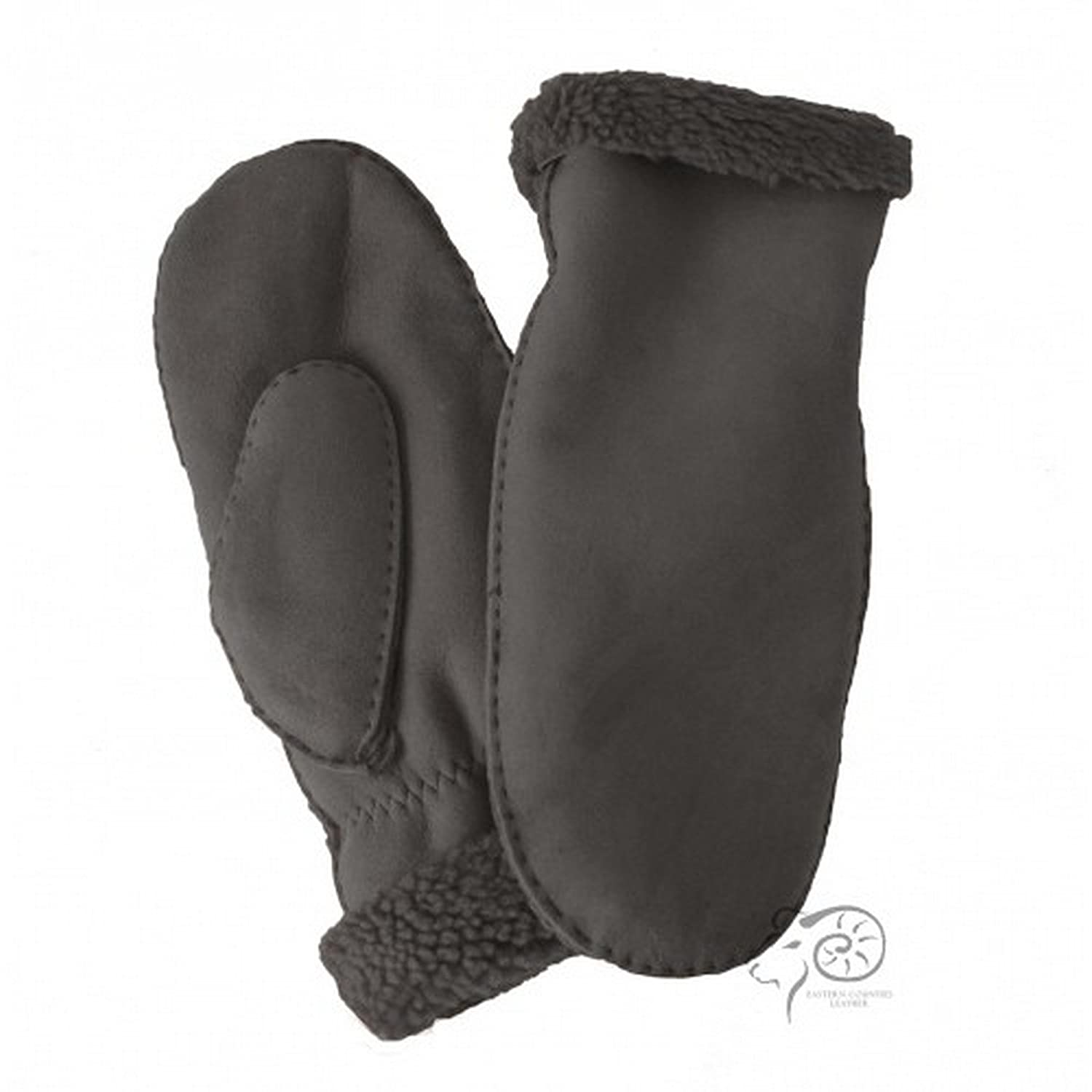 Eastern Counties Leather Womens/Ladies Full Hand Sheepskin Mittens (One size) (Brown Tipped) UTEL219_3