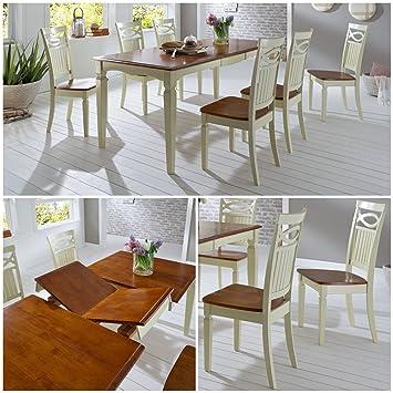 Essgruppe Essecke Massiv Holz Rustico Used Look Vintage Tisch Set ...
