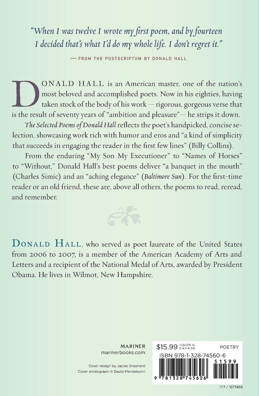 Selected Poems of Donald Hall: Donald Hall: 9781328745606: Amazon.com: Books