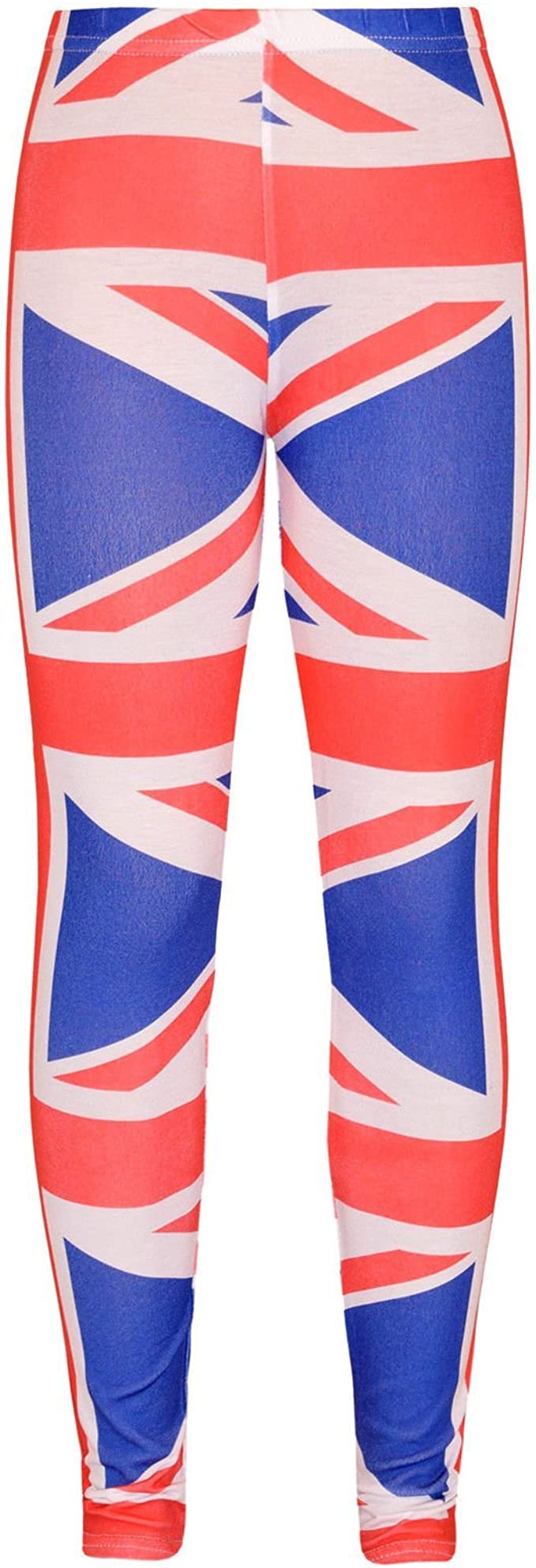 Disfraz de bandera británica Union Jack para niña camiseta/top ...