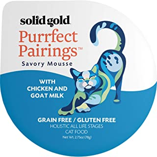 product image for Solid Gold Goat Milk Mousse Pate Wet Cat Food; Purrfect Pairings with Poultry/Seafood (2.75 cup multipack)