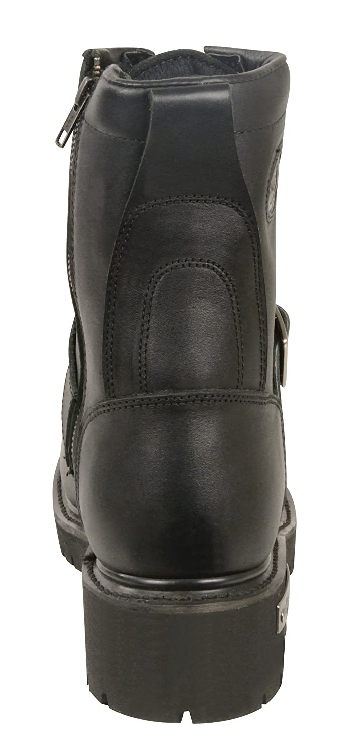 Milwaukee Leather Mens Classic Motorcycle Boots Black, Size 11.5