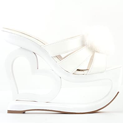 dc78048d3a3c SHOW STORY Trendy White Strappy Bridesmaids High Heel Platform Party Sandals