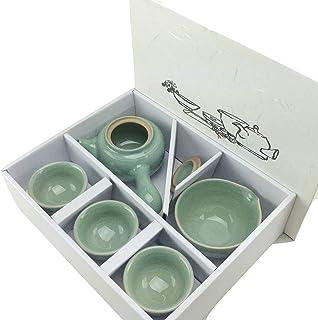 Amazon.com: Teaset coreano Lotus Hojas Forma 3 Taza de ...
