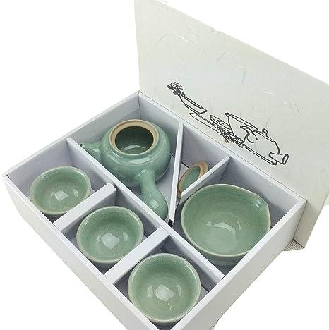 Amazon.com: Teaset coreano Crane & Cloud (en caja/tetera ...