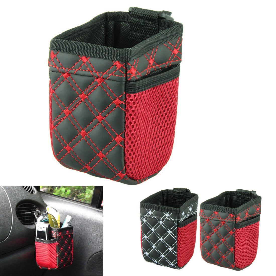 Voberry Bag of Car Air Outlet Mobile Phone Bag Carriage Bag Seat Back Organizer Storage Bag Car Pocket Storage Organizer (Red)