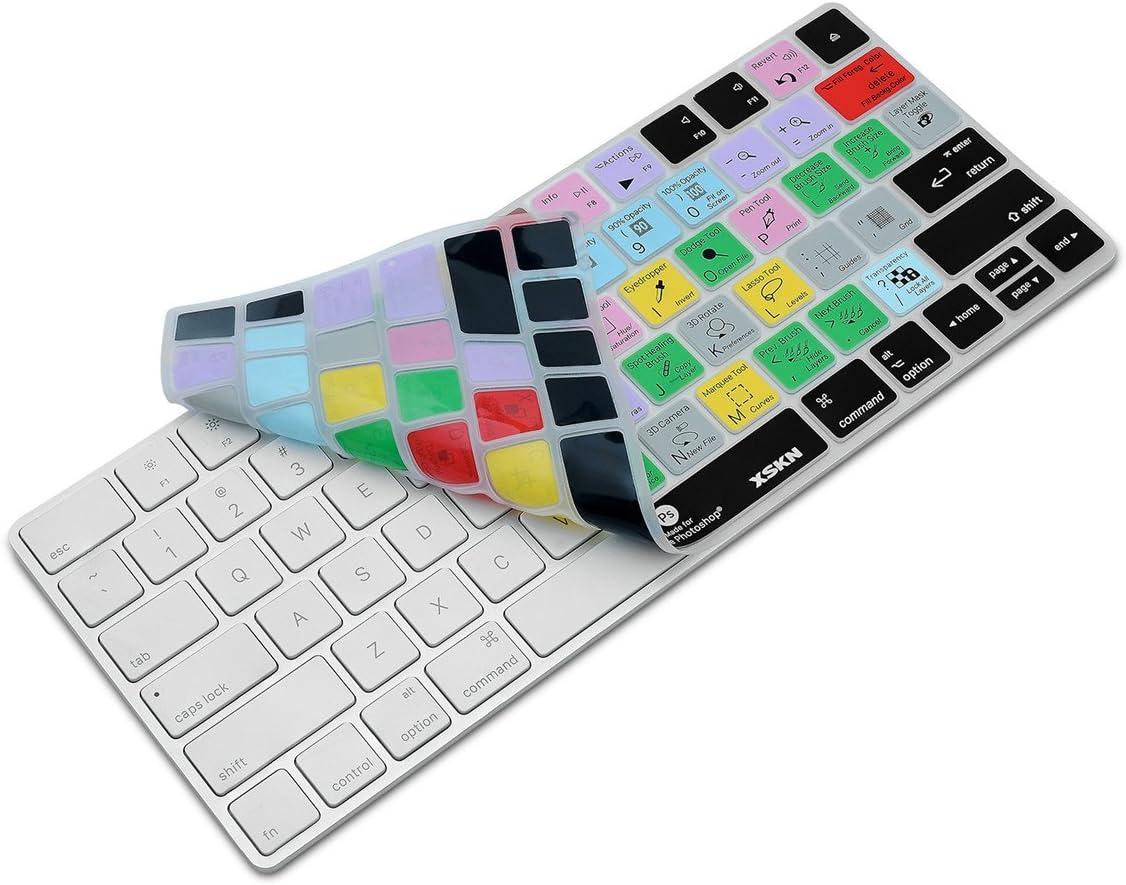 XSKN Apple Magic Keyboard Cover Functional Photoshop CC Shortcut Silikon Skin Schutzfolie f/ür Magic Keyboard MLA22B//A US-Layout