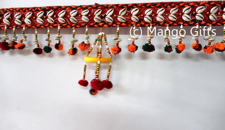Handmade Toran Door Hanging Boho bohemian Home Decor indian Diwali Gift Beautiful hindu decoratives