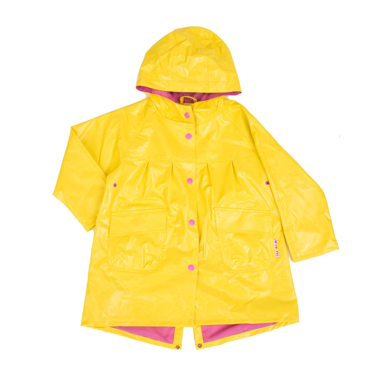 Wippette Colored Rain Jacket For Little Girls & Toddlers, Yellow, 2T