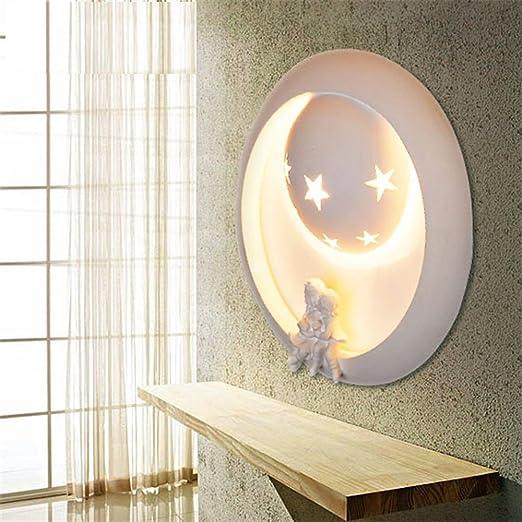 SADASD Cartoon Art habitación infantil Lámpara de Pared Creative Salón Escalera Pasillo Lampara de pared Dormitorio Hotel lámpara de mesilla, incluyendo5W LED Luz cálida: Amazon.es: Iluminación