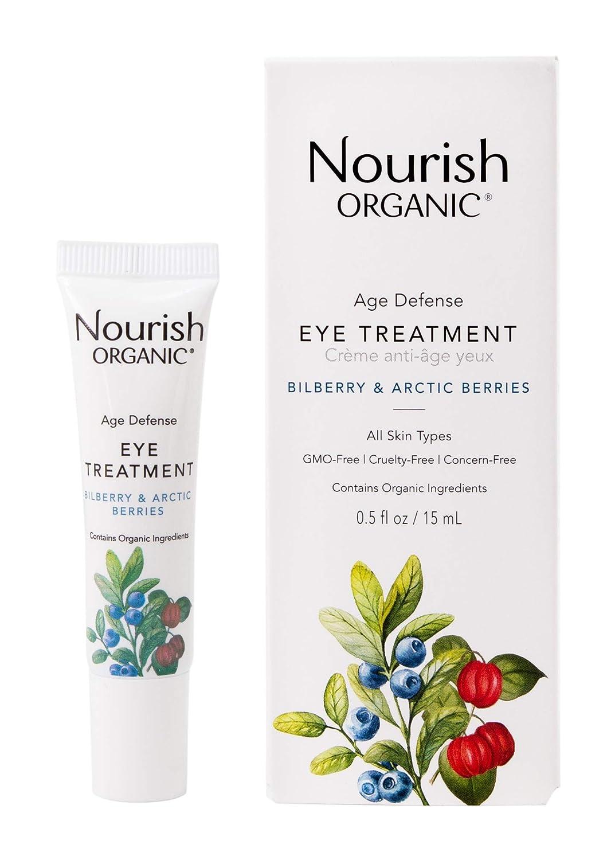 Nourish Organic | Age Defense Eye Treatment - Bilberry & Arctic Berries | GMO-Free, Cruelty Free, Fragrance Free (0.5oz)