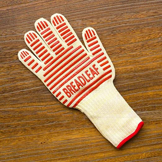 1PC Microwave Oven Glove Insulated Baking Mitten Long Cuff Silicone Glove New