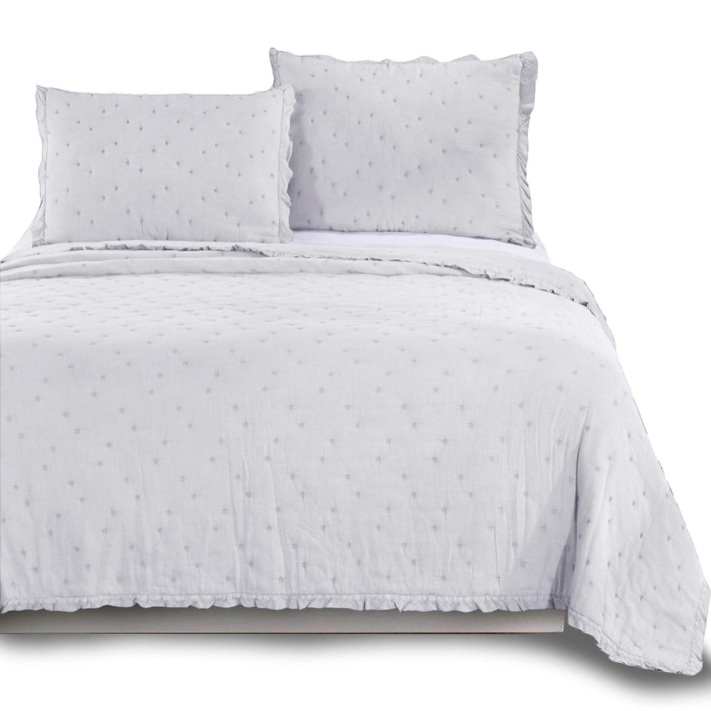 kasentex豪華100 % Natural Cotton Stone Washedソフト洗濯ableキルト枕ケースSingleキングクイーンサイズ毛布ベッドCoverletセットFantasticデザインwithソリッドカラー KING104X88