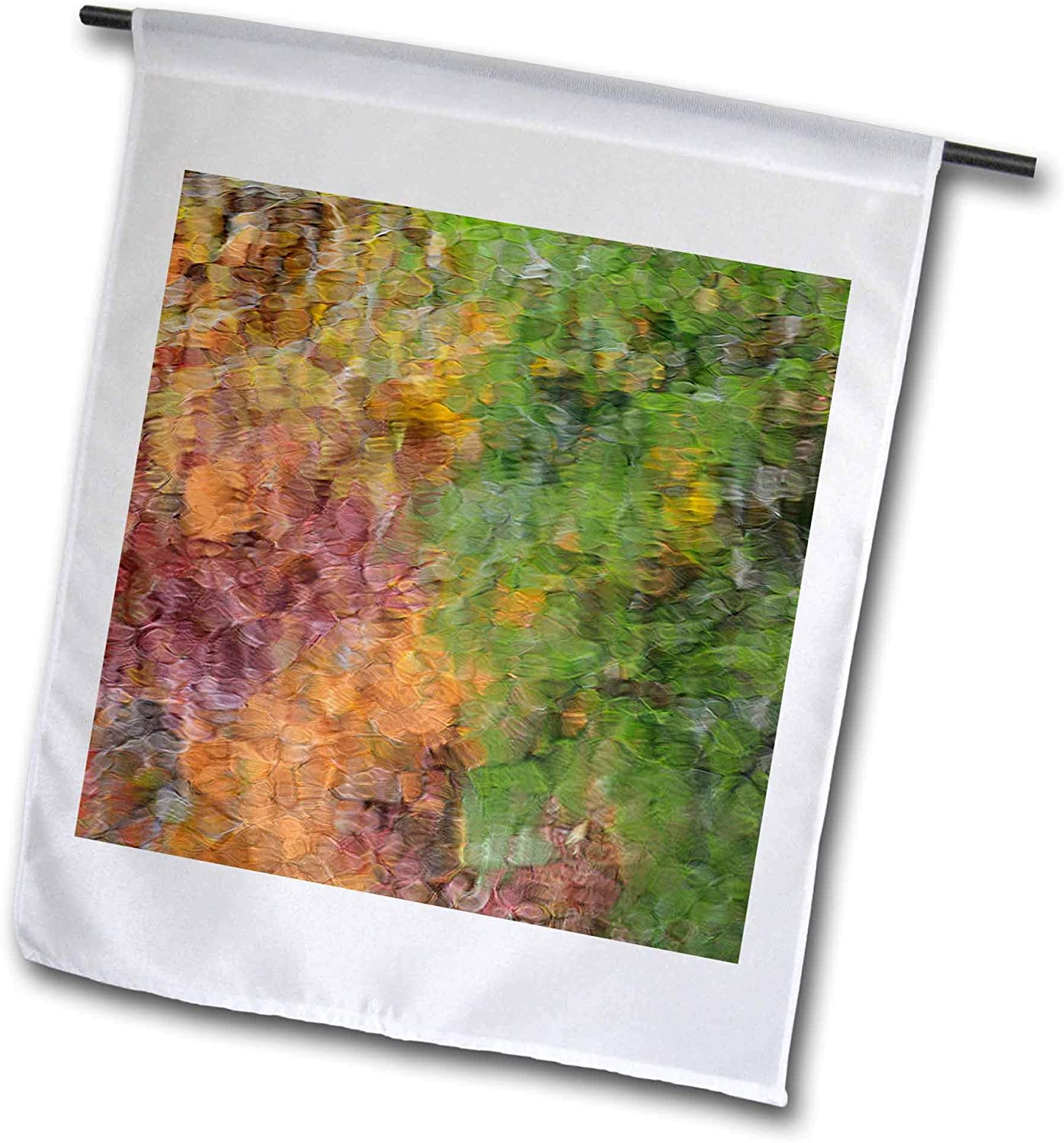 3dRose Danita Delimont - Autumn - USA, Tennessee Great Smoky Mountain NP, Fall Reflections, Little River - 12 x 18 inch Garden Flag (fl_315026_1)