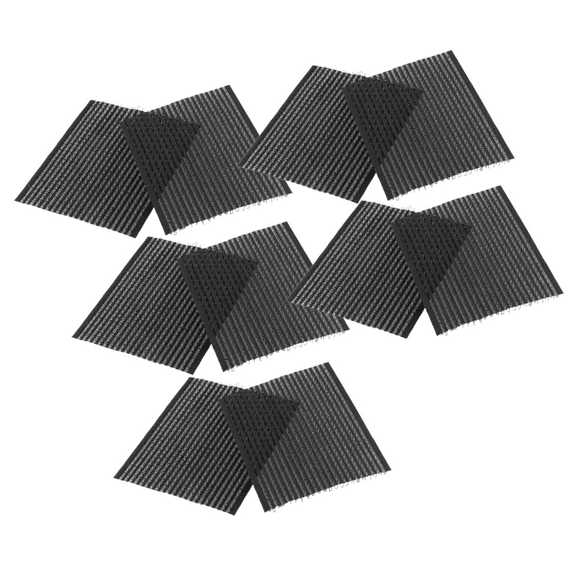 uxcell Bangs Clip Magic Paste Posts Fringe Hair Stickers 5 Bags 10 Pcs Black a13012400ux0021