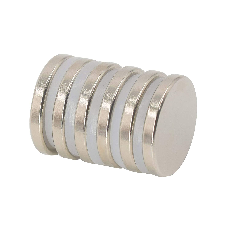 Imán de disco de neodimio 25 mm de diámetro x 3,5 mm de espesor 6 kg Pull (paquete de 6)