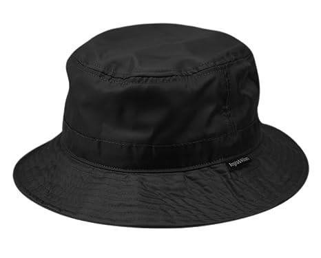 f9a0fab1 ANGELA & WILLIAM Waterproof Bucket Rain Hat in Nylon (Black) at ...