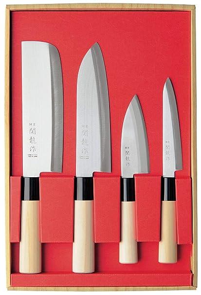 SekiRyu SR1001 - Juego de cuchillos japoneses (SekiRyu ...