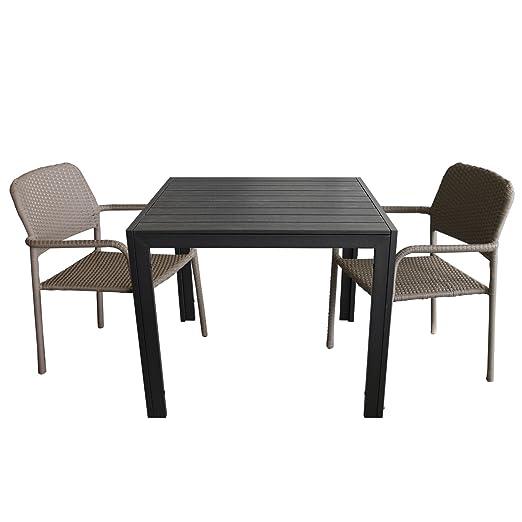 3 piezas. Mobiliario de jardín Bistro Escobillero - Mesa de jardín ...