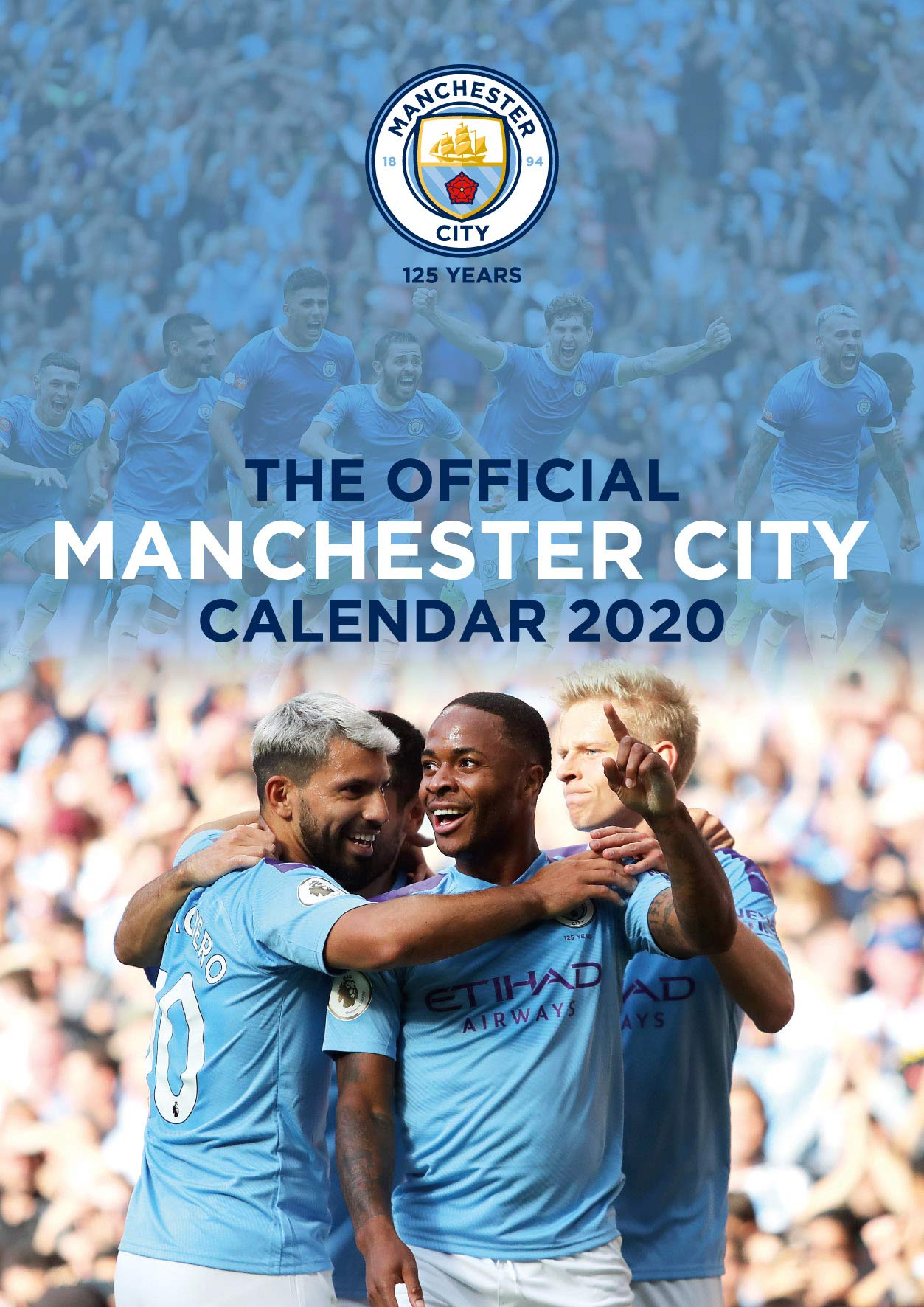 Manchester City FC 2020 Calendar   Official A3 Month to View Wall