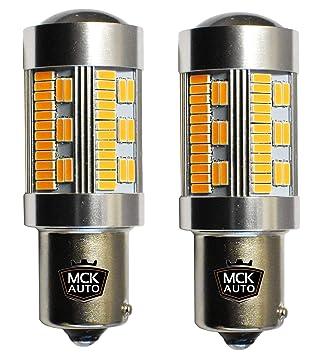 Bombillas LED ámbar, naranja Canbus PY21W 30SMD con indicador delantero, trasero, serie 581 BAU15S EB5R3: Amazon.es: Coche y moto