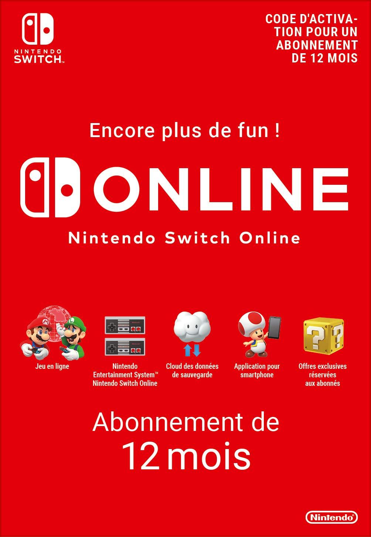 Abonnement Nintendo Switch Online - 12 Mois | Nintendo Switch - Version  digitale/code | Code jeu à télécharger: Amazon.fr: Jeux vidéo