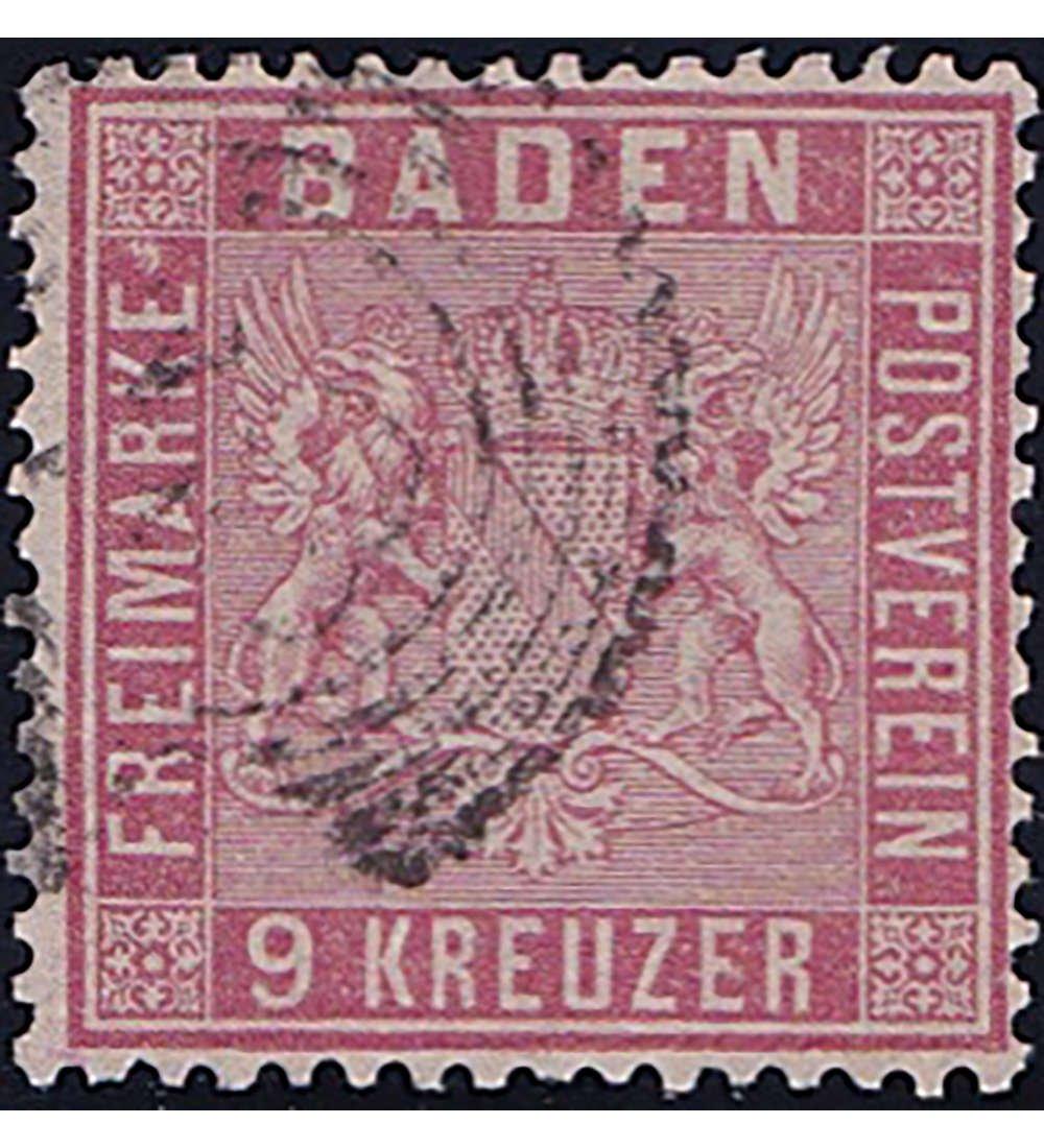 Goldhahn Baden Nr. 12 gestempelt geprüft Briefmarken für Sammler
