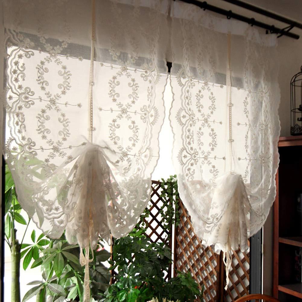 Tenda corta,tenda corta in pizzo,tenda trasparente,mezza tenda polvere,tenda corta studio camera da letto 1 pezzo