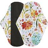 Ularma Heavy Flow Reusable Bamboo Cloth/ Washable Menstrual Pad/ Mama Sanitary Towel Pad (L, Multicolor)