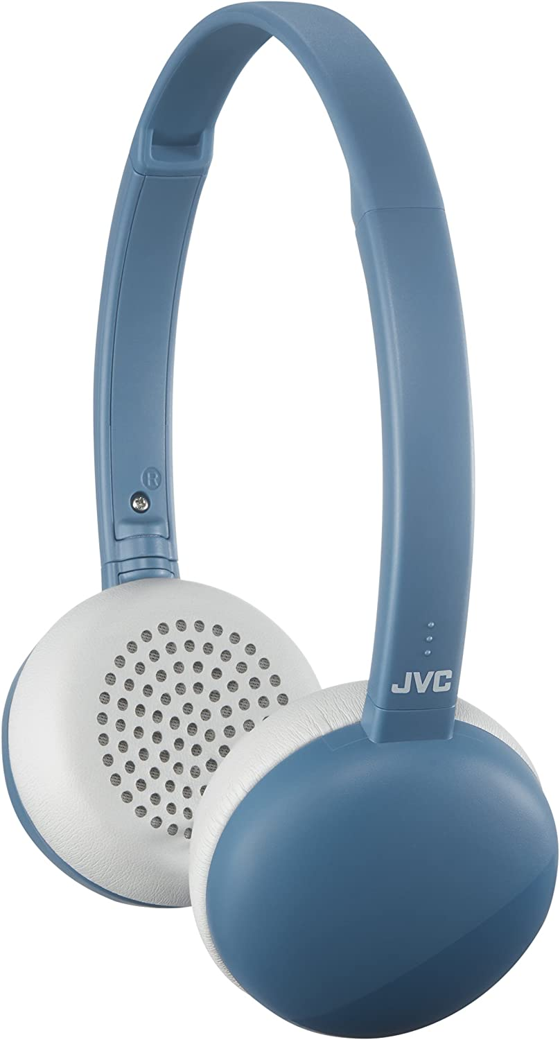 JVC HA-S20BTA Flats Wireless Bluetooth On-Ear Headphone - Blue - HAS20BTA