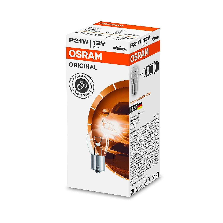 Osram 10x Genuine Original 12v P21W (BA15s / 382) 21w Clear Bulbs [7506] - Part Number 7506