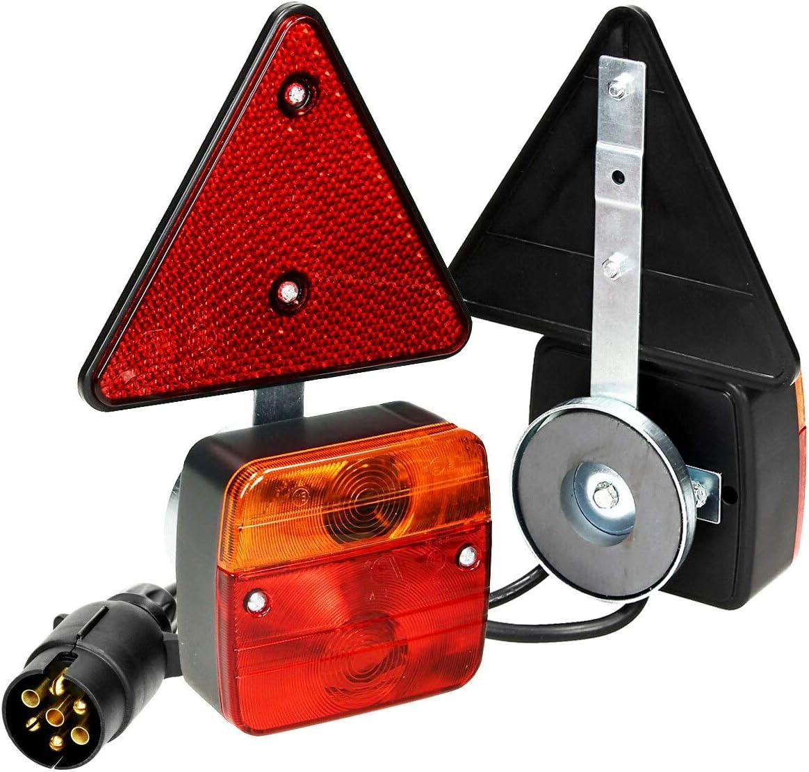 12 V Rückleuchten Set 7 Polig Magnetisch Anhänger Beleuchtung Bleuchtungssatz Auto