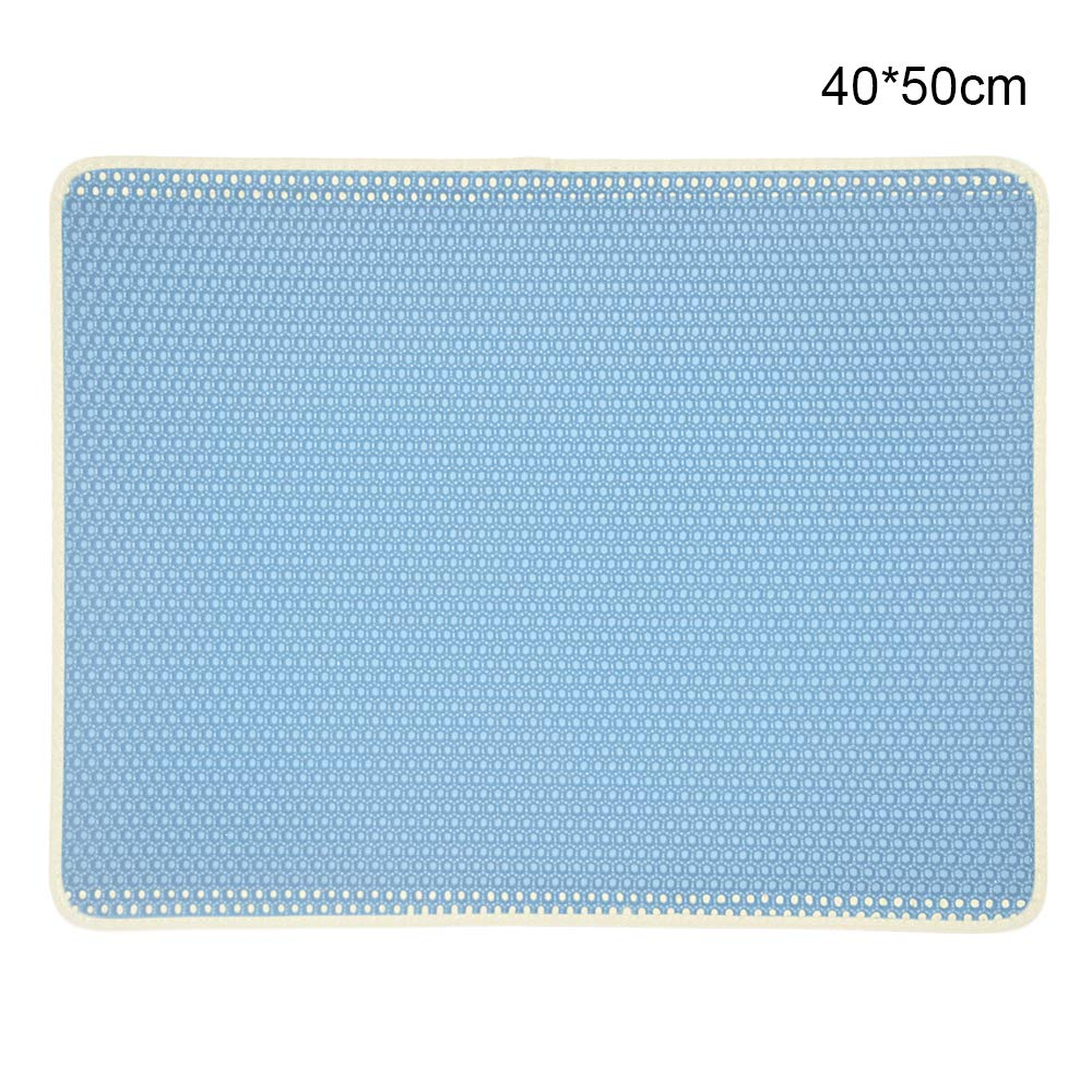 BVAGSS Impermeable Colchoneta de Gato Estera de Arena de Doble Capa para Gato F/ácil de Limpiar XH020 30 * 30cm, Sky Blue