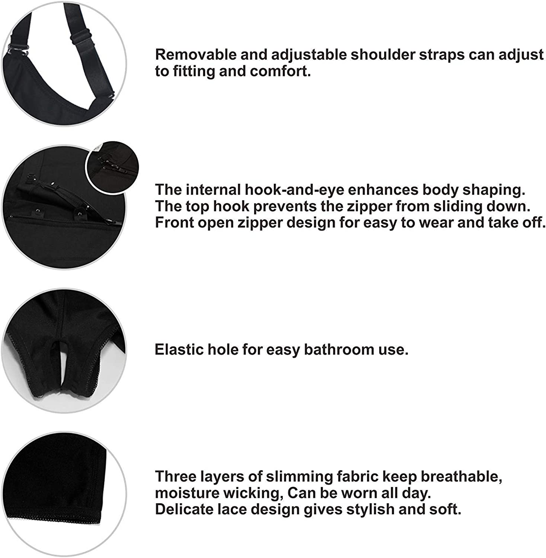 YIANNA Mujer Body Reductor Busto Abierto Cors/é sin Costuras Faja Reductora Modeladora Shapewear Adelgazante