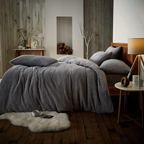 Fitted Sheets Teddy Fleece Luxury Duvet Covers Fluffy Warm Soft Bedding Sets