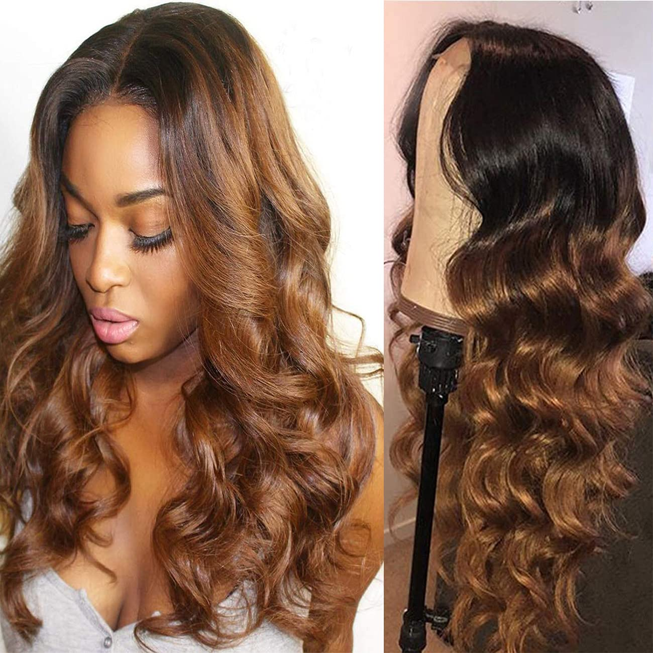 Body Wave Lace Front Max 89% OFF Wigs 4x4 Superlatite Hair Human Colored