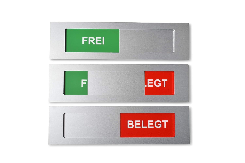 Sivoss Cartel de Aluminio con Texto Frei - Belegt - Modelo L ...