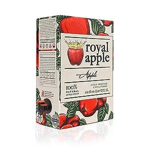Royal Apple Pure Premium 100% Natural Apple Juice | No Sugar Added, Non-GMO, No Preservatives, Good Source of Vitamin C Source, Healthy Kids Juice Drink, 101 fl oz (3L), 1 Pack